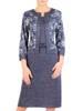 Dzianinowa sukienka, kreacja z imitacją żakietu 29334