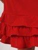 Dzianinowa sukienka, kreacja z ozdobnymi falbanami 24144