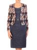 Dzianinowa sukienka na jesień z imitacją żakietu 30686