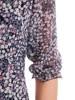 Dzianinowa sukienka z szyfonowymi rękawkami i plisami 29929