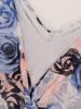 Elegancka sukienka damska z szyfonową górą i wiązaniem 29861