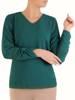 Elegancka zielona bluzka z ozdobnymi rękawami 28061