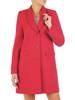 Elegancki, czerwony płaszcz damski z kieszeniami 28545