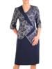 Granatowa sukienka damska, kreacja z koronkową górą 29715