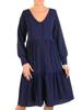 Granatowa sukienka w luźniejszym, wygodnym fasonie 27918