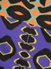 Kolorowa tunika z wiązaniem i czarnymi wykończeniami 30077