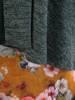 Komplet damski, elegancka sukienka z dzianinową narzutką 27180