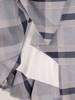 Kopertowa sukienka w kratę, rozkloszowana kreacja z paskiem 30140