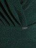 Kopertowa sukienka z asymetryczną zakładką, kreacja z połyskującej dzianiny 24534