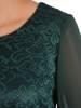 Koronkowa sukienka z szyfonowymi rękawami i falbanami 28086