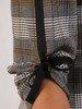 Kraciasta tunika z czarnymi kokardkami 24012