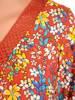 Luźna bluzka w kwiaty z koronkowymi wstawkami 30219