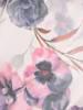 Luźna sukienka w kwiaty, kreacja ze zbluzowaną górą 30334
