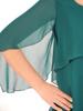 Luźna, zielona sukienka ze zwiewnego szyfonu 30740
