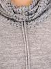 Modna bluzka z marszczonym golfem 30853