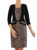 Nowoczesna sukienka z imitacją żakietu, modna kreacja z dzianiny 27009