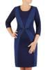 Optycznie wyszczuplająca, elegancka sukienka w oryginalnym wzorze 27025