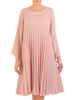 Plisowana sukienka z szyfonu, kreacja w luźnym fasonie 31202