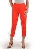 Pomarańczowe spodnie cygaretki 25767