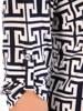Prosta, dzianinowa tunika damska o ciekawym wzorze 29556