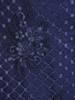 Prosta sukienka granatowa z kopertowym dekoltem, kreacja na wesele 29460