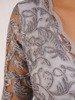 Prosta sukienka z kopertowym dekoltem, kreacja z koronkowym topem 22535