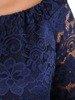Prosta sukienka z koronki, kreacja z ozdobnymi rękawami 22579