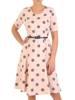 Rozkloszowana sukienka damska w szare grochy 29100