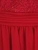 Rozkloszowana sukienka na wesele, kreacja z koronki i szyfonu 22679