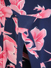 Rozkloszowana sukienka w kwiaty, letnia kreacja z szyfonu 30531