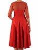 Rozkloszowana sukienka z połyskiem, kreacja z tiulowym karczkiem 23112
