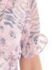 Rozkloszowana sukienka ze zwiewnego szyfonu 30043