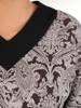 Sukienka damska w oryginalnym wzorze z kieszeniami 28608