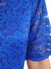 Sukienka koktajlowa maksi, chabrowa kreacja z koronkową górą 30882