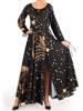 Sukienka maxi, elegancka kreacja z rozcięciem 27768