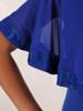 Sukienka na wesele, chabrowa kreacja w oryginalnym fasonie 26357