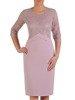 Sukienka na wesele, elegancka kreacja z łączonych tkanin 25383