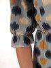Sukienka szyfonowa, modna kreacja z wiązaniem na dekolcie 25019