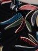 Sukienka w ciekawy wzór, prosty fason z dekoltem w serek 25713