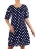 Sukienka w grochy, zwiewna kreacja z szyfonu 26230