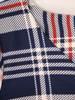Sukienka w kratę, prosty fason z dekoltem w serek 28816