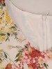 Sukienka w kwiaty, luźny fason na lato 25912