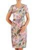 Sukienka w kwiaty, prosta kreacja z tkaniny 26654