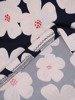 Sukienka w kwiaty, prosty fason z dekoltem w serek 25715