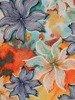 Sukienka w kwiaty, prosty fason z dekoltem w serek 25967