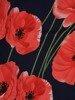 Sukienka w kwiaty, wiosenna kreacja z ozdobnymi rękawami 25513