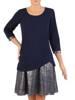 Sukienka w luźnym fasonie, jesienna kreacja z dzianiny 27616