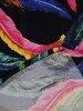Sukienka w pióra, prosty fason z dekoltem w serek 25720