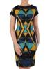 Sukienka wyszczuplająca, geometryczna kreacja z tkaniny 20292.
