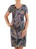 Sukienka z dzianiny, prosta kreacja w oryginalnym wzorze 26216